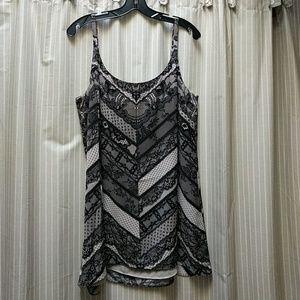Cabi Cami- black lace print